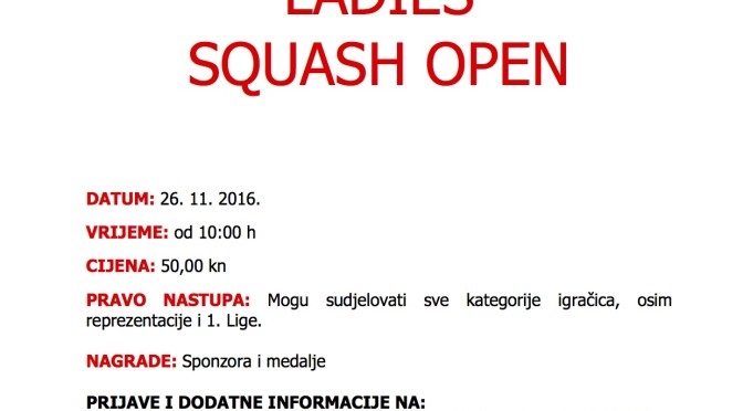 AVON LADIES SQUASH OPEN