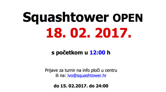 4. Squashtower Open 2016.-2017. i Ladies Open